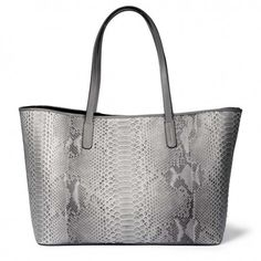 "Bethge | Bag ""Sofia"" in light grey made of python."