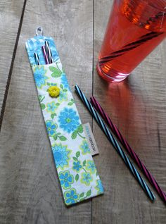 Blue and yellow flowers' Reusable straw case, zero waste, Reusable straw bag made from recycled fabric Recycled Fabric, Zero Waste, Yellow Flowers, Bag Making, Straw Bag, Recycling, Creations, Couture, Sewing