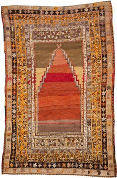 Turkish rug  Turkey  Late 19th century  size approximately 4ft. 4in. x 6ft. 4in.