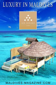 A real paradise, Six Senses Laamu is a sustainable luxury resort surrounded by clear turquoise water and white sandy beaches. Six Senses Laamu is the only resort on the virtually uncharted Laamu Atoll in the Maldives, deep in the Indian Ocean Maldives Destinations, Honeymoon Destinations, Hotels And Resorts, Luxury Resorts, Visit Maldives, Luxury Holidays, Turquoise Water, Sandy Beaches, Hotel Reviews
