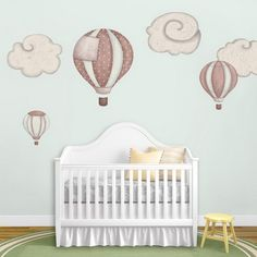 Funny and Beautiful Baloon Wall Stickers Decals in Nursery Baby Bedroom Design Ideas