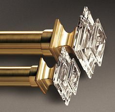 I love these and I love brass. Estate Crystal Brass | Restoration Hardware