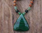 Malachite Sandalwood Mala  - Meditation Inspired Yoga Beads / mala beads BOHO chic