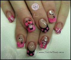 Pink Black and Gold Pedicure | +Nails+And+Beauty,+Gold+coast ...