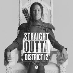 Katniss is part of District 12 in the middle of the woods.