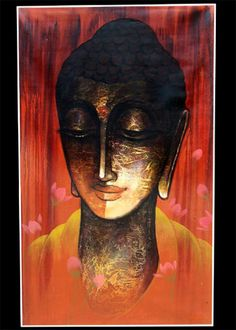 """' Drawing the parallel to yourself, neither kill nor get others to kill."""" ~ The Buddha Budha Painting, Love Painting, Painting Canvas, Watercolor Paintings, Buddha Doodle, Buddha Art, Buddha Drawing, Buddhist Wisdom, Buddhist Symbols"""