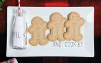 Holiday Tray- Milk and Cookie