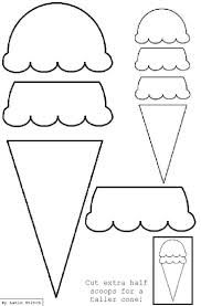 icecream template printable - Google Search