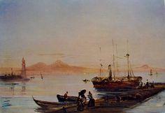 5 antonio pitloo - tramonto sul porto di napoli.jpg (972×670)