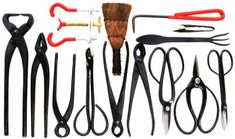 Stanwood Bonsai Tool 14-Piece Carbon Steel Shear Set and Tool Kit