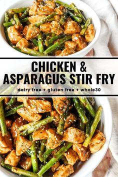 Asparagus Stir Fry, Chicken Asparagus, How To Cook Asparagus, Asparagus Recipe, Fresh Asparagus, Chicken Broccoli, Healthy Stir Fry, Healthy Cooking, Healthy Eating