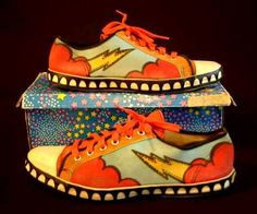 Peter Max tennis shoes! I have wanted a pair of these, well not since I can remember, but at least since sometime in 1970's. Still do!