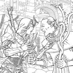 Dragon Age Comic Ink Test 2 By JPMartin