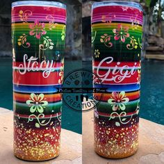 Vinyl Tumblers, Custom Tumblers, Glitter Tumblr, Painted Cups, Tumbler Designs, Tumbler Cups, Crafty Projects, Diy And Crafts, Coffee Cup Design