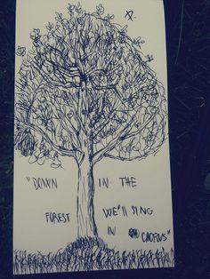 Tøp  Forest , black pen  drawings