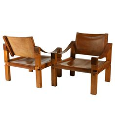 Pierre Chapo leather armchairs