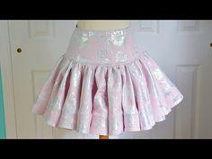 Ruffly Skirt Tutorial - With Horsehair Braid - YouTube