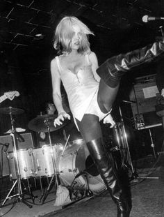 Blondie on stage at Max's Kansas City, 1970s.