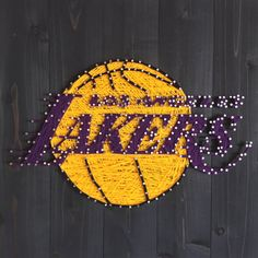 Lakers Epic String Art! The perfect Lakers fan gift! (27.5 in x 27.5 in)