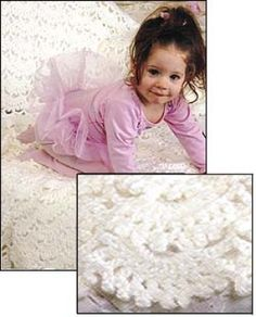 Free Crochet Pattern: Heirloom lace throw