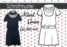 """Nähanleitung und Schnitt  Kleid """"Greta"""" GR:36-44"""