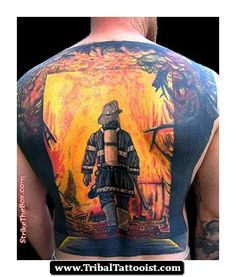 American Firefighter Tattoos | Firefighter%20Tribal%20Tattoos%2002 Firefighter Tribal Tattoos 02