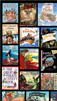 "Pirate activities: Great books for your pirate theme or ""Talk Like a Pirate day"". Pirate Talk, Teach Like A Pirate, Pirate Ships, Pirate Treasure, Treasure Maps, Treasure Island, Pirate Activities, Book Activities, Book Week"