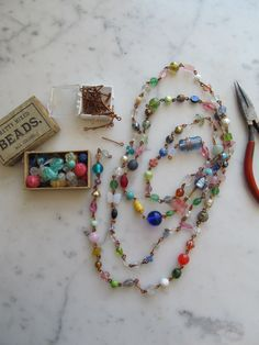 End Of The Day Vintage Glass Bead Chain Kit by WhoKnowsWhat