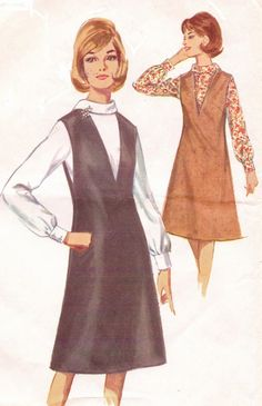 1960s Simplicity Sewing Pattern 5633 Womens Deep V by CloesCloset, $11.00