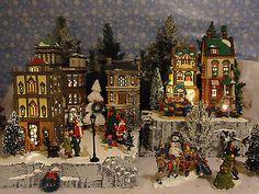 Christmas-Snow-Village-Display-Platform-Base-Dept-56-Lemax-St-Nicholas-Square