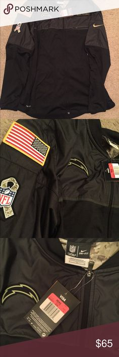 Los Angeles Chargers Salute To Service Jacket Brand New Retail:$80 No Holes New Wit Tags  I will throw you a deal Steals and Deals Ask Any Questions  Offer Below Nike Sweaters Crew & Scoop Necks