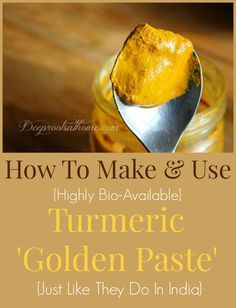 How To Make {& Use} Turmeric Golden Paste: I would not add the coconut oil until I actually make the golden milk and add a touch of honey, but I would add a teaspoon of ginger into the paste for extra zing.