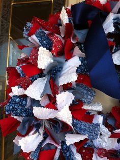 Patriotic Wreath by PhrasesByChristina on Etsy