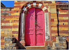 the pink door Campos Chios Island, Greece
