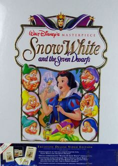 Walt Disney's Masterpiece Snow White and the Seven Dwarfs Deluxe Video Edition. From eBay seller @udderlygoodstuf.