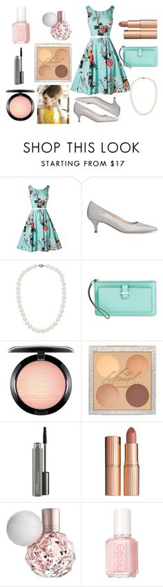 """""""Bored Housewife"""" by marisa-heine ❤ liked on Polyvore featuring L.K.Bennett, Blue Nile, Kate Spade, MAC Cosmetics, Charlotte Tilbury and Essie"""
