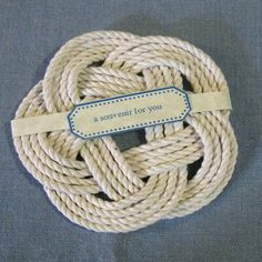 25 Nautical Wedding Favors White Sailor Knot Coasters on Etsy, $82.50