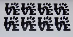 8X LOVE WITH PAW PRINT VINYL DECAL STICKERS PICK COLOR  NEW