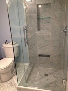 Our gorgeous master bathroom shower. Becky show this to Sylvia. It would open up her shower stall. Master Bathroom Shower, Bathroom Renos, Small Bathroom, Shower Floor Tile, Glass Shower, Shower Box, Shower Niche, Bathroom Remodel Cost, Shower Remodel