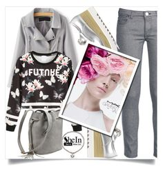 """Shein 7"" by aida-banjic ❤ liked on Polyvore featuring George J. Love, WithChic, M.A.C and shein"