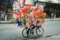 Balloon vendor, Ho Chi Minh City, Vietnam