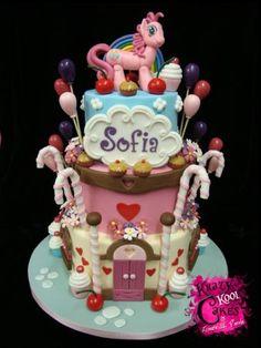 Pinky Pie's Dessert Bonanza Birthday Cake  Not gonna lie... I would love this cake for my birthday.
