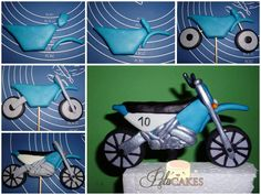 Fondant motorcycle maybe for Garetts birthday cake Fondant Figures, Fondant Cake Toppers, Fondant Cakes, Cupcake Cakes, Cake Topper Tutorial, Fondant Tutorial, Cake Decorating Techniques, Cake Decorating Tutorials, Decorating Supplies