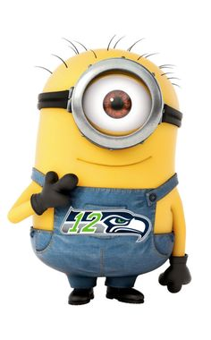 Seahawks Minion Sticker by stickermonkey on Etsy