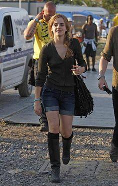 Emma Watson at Glastonbury Festival.