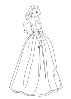 Barbie coloring pages for girls free printable