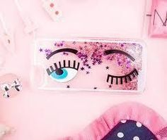 Pink Glitter Star Quicksand Phone Case for iPhone 6/6S  https://www.lulugem.com/collections/all-phone-cases/products/copy-of-pink-sequins-flirting-eyes-phone-case-for-iphone-6-6s?lshst=collection