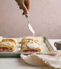 """Doesn't the recipe title """"scone sandwiches"""" sound like the most weekend, leisure eating experience ever? Ever since Cindy posted these scone sandwiches, I was like """"yasss, I want those!"""" The sandwich part comes when we roll out the scones to a skinnier-than-usual-thickness and fill part of them..."""