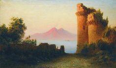Лев Лагорио - Старая крепость на фоне Везувия