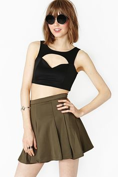 Commotion Crop Top - Black